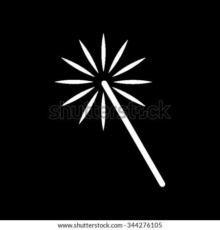 magic and wand   white vector
