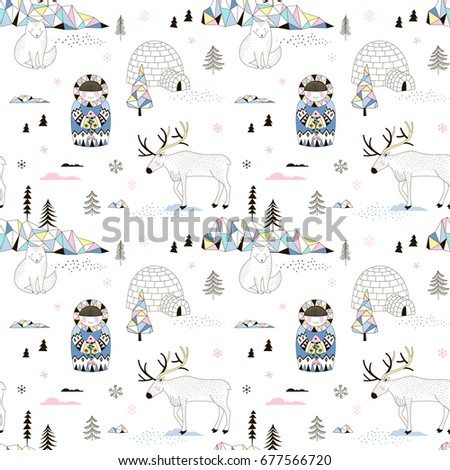 magic arctic decorative pattern