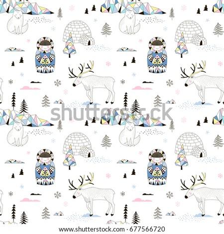 magic arctic decorative pattern
