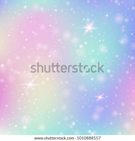 magic background with rainbow
