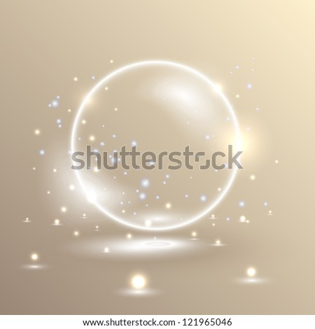 magic ball vector illustration