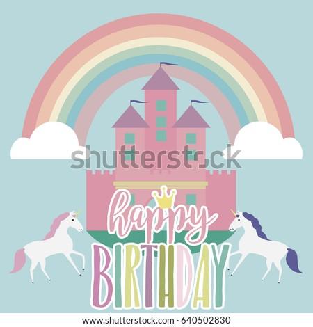 Magic birthday party card, invitation card, greeting card, poster, decor. Vector illustration