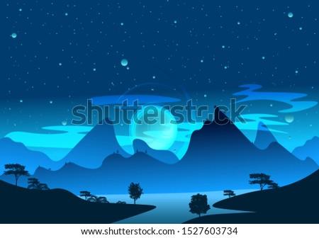magic blue and light art nature