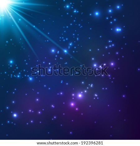 magic blue vector cosmic light