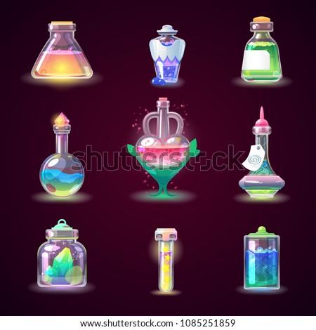 magic bottle vector magical