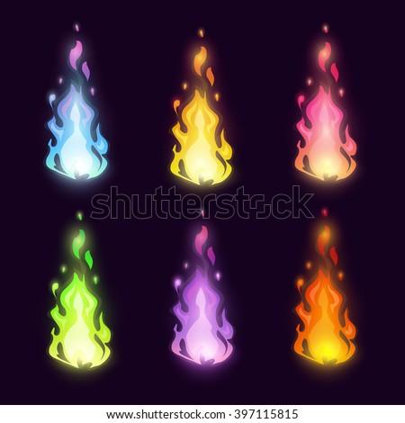magic cartoon fairy colorful