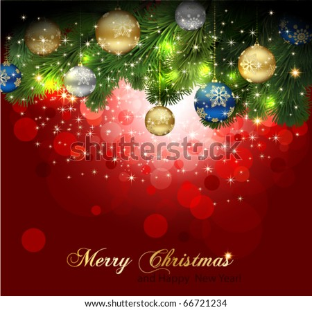 Magic Christmas Background. - stock vector
