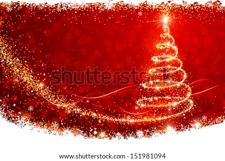 Christmas Tree Vector - Magic Christmas Tree