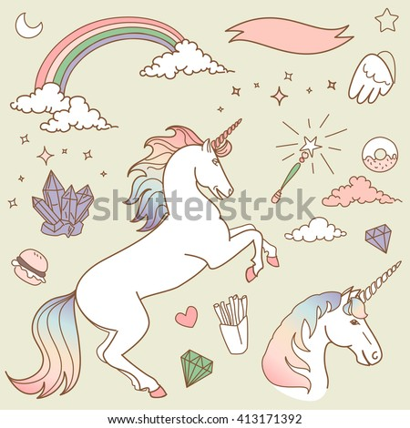 magic collection with unicorn