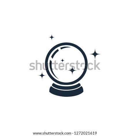magic crystal ball icon symbol logo template