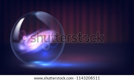Magic crystal ball of divination. Interpretation of dreams, Psychic, fortune telling