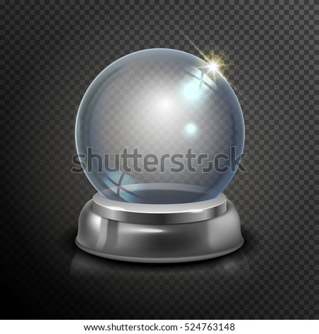 magic crystal ball of glass and