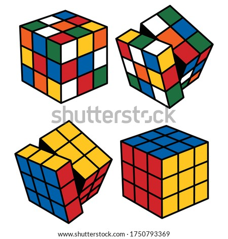 Magic Cube with Rotated Sides Photo stock ©