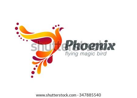magic fairy bird abstract logo