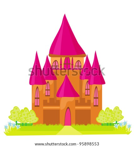 Magic Fairy Tale Princess Castle - stock vector
