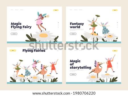 magic flying fairies set of
