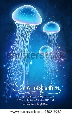 magic glowing jellyfish