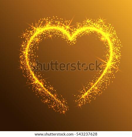 magic gold glitter stars