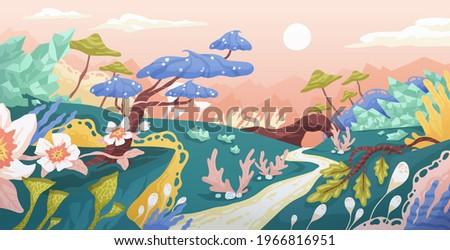 magic landscape of fantasy