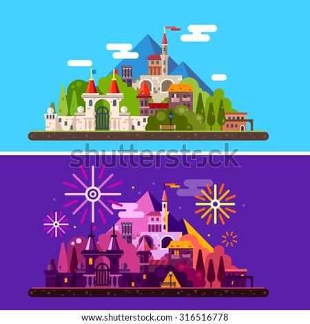 magic landscape with ancient