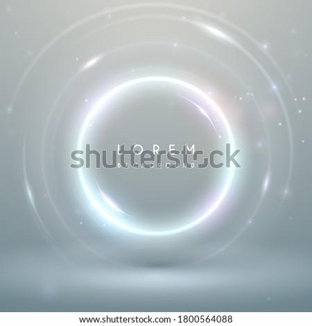 Magic light white ring background