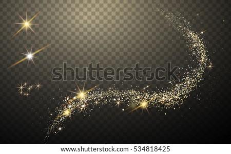 magic like golden glittering...