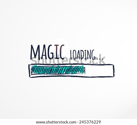magic loading hand drawn