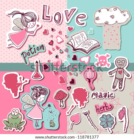 magic love scrapbook set
