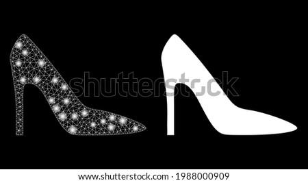 magic mesh vector high heel