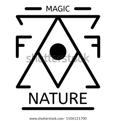 Magic nature alchemy icon. Outline magic nature alchemy vector icon for web design isolated on white background