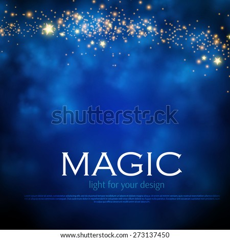 magic night background with