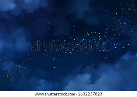 magic night dark blue sky with