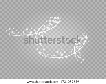 Magic png light effect. Stardust silver glitter. Sparkle star dust vector illustration.
