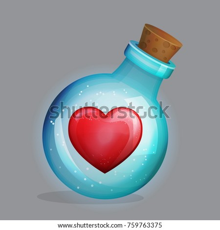magic potion bottle with love...