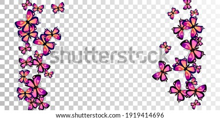 magic purple butterflies