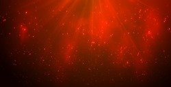 Magic Red Lights on Blue Background Bokeh effect.Vector EPS 10