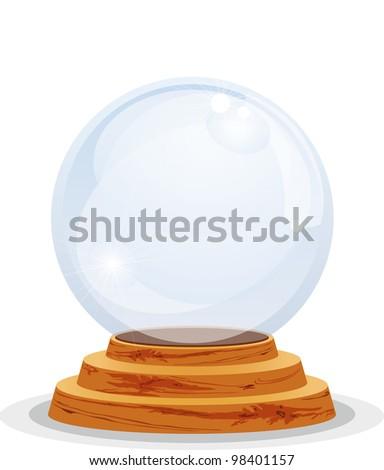 Magic sphere - stock vector