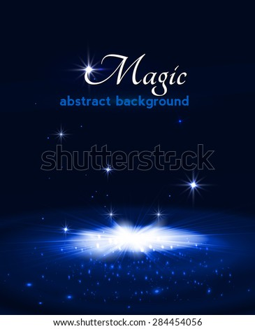 magic stage background with