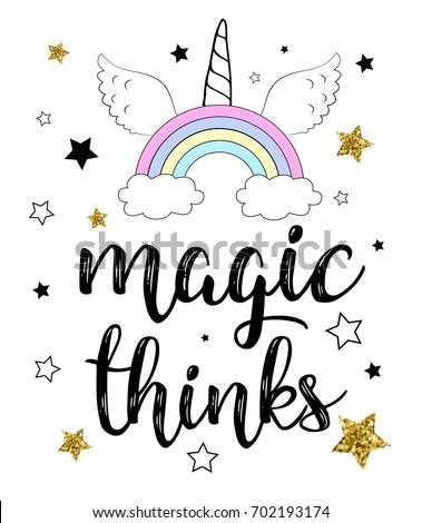 magic thinks calligraphy slogan
