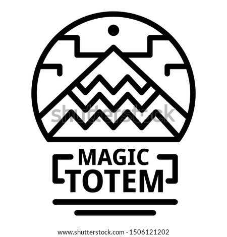 Magic totem icon. Outline magic totem vector icon for web design isolated on white background