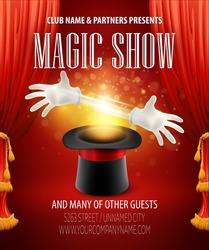 Magic trick performance, circus, show concept. Vector illustration EPS 10
