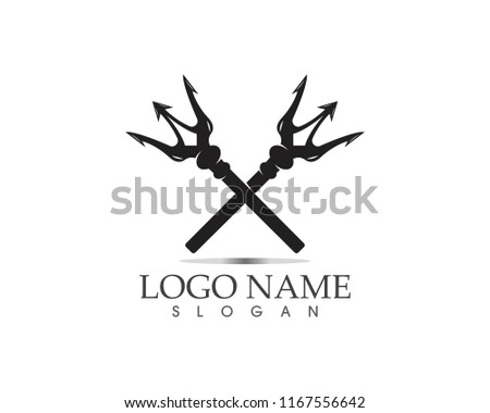 Magic trident logo vector illustration