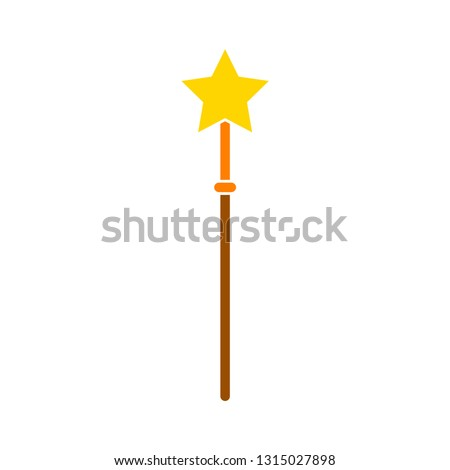 3cfdadbf6e0ae1 magic wand flat icon- magic wand flat isolated , magician element  illustration - Vector magical