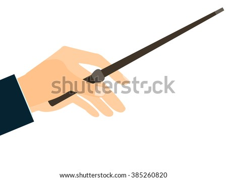 magic wand hand holding a wand