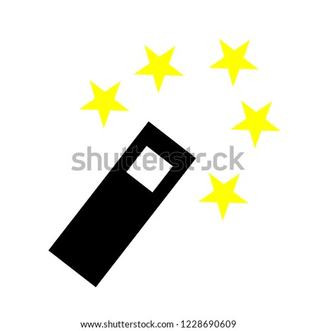 Magic wand icon. Magic wand symbol design from Fairy tale collection. Simple element vector illustration on white background
