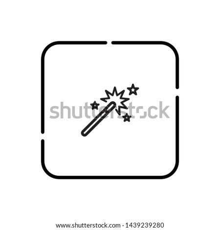 Magic wand, magic symbol vector icon
