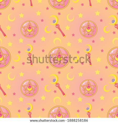 Magic Wand Sailor Moon Pattern Design