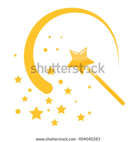 magic wand stars flat icon