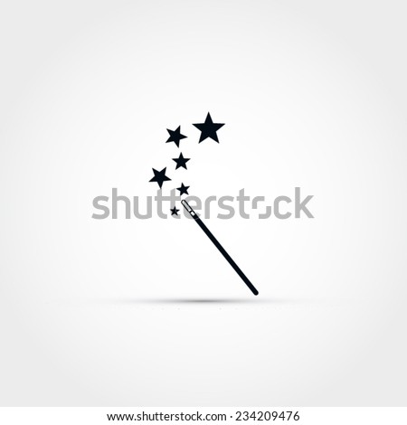 magic wand vector icon