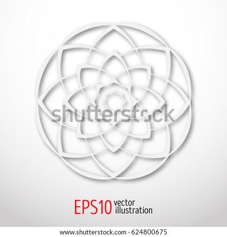 magic white lotus in circle 3d